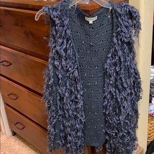 Sweater vest. Blue XL